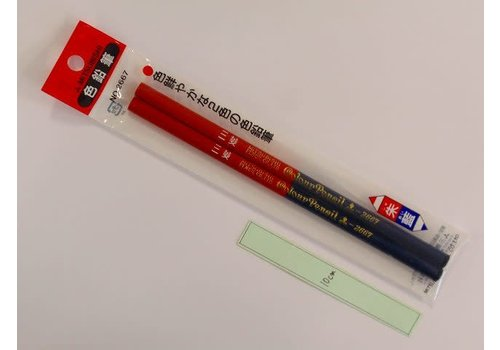 Red / blue pencil 2p