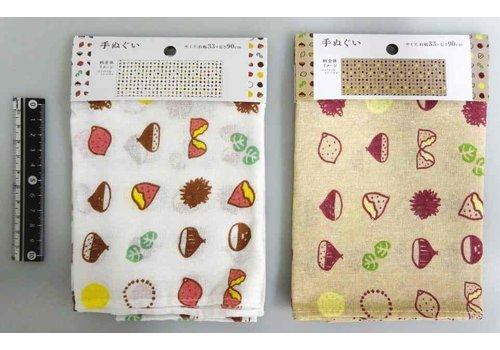 Tenugui hand towel autumn foods