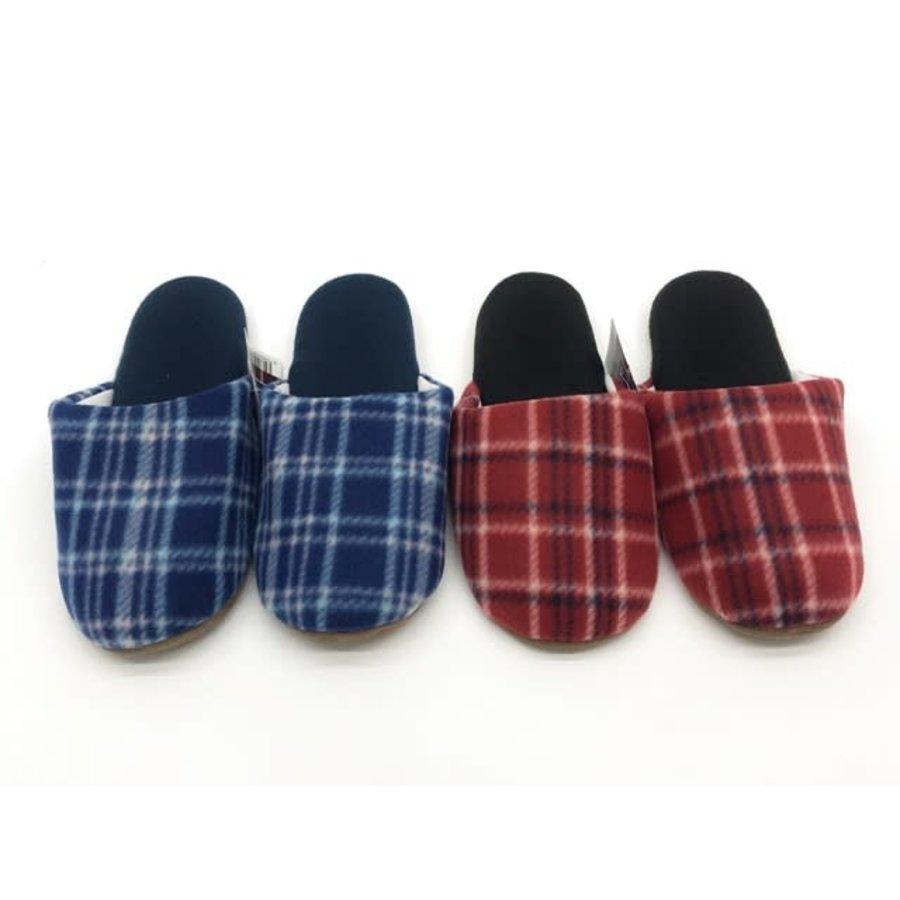 Fleece fit slipper check-1