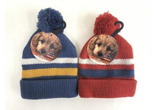 Pet cold protection knit cap