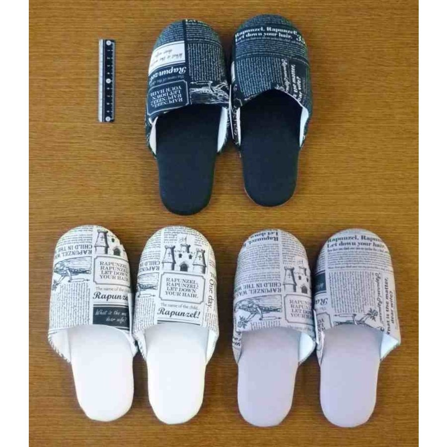 Fit slippers with English paper pattern-1