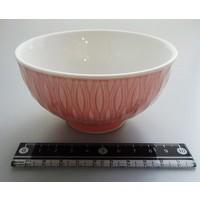 Kommetje, roze, reliëf aan buitenzijde, 11,5 cm