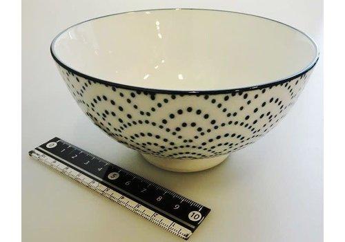 Blue wave rice bowl L
