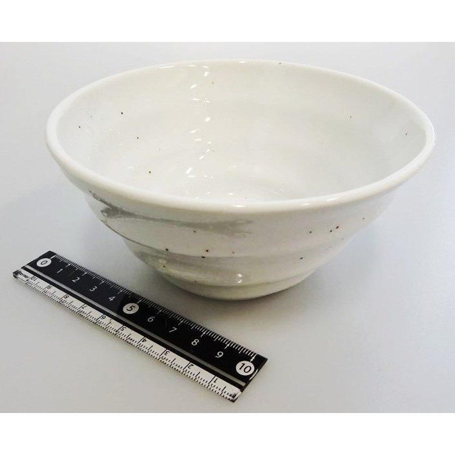 Witte kom met ribbelstructuur en spikkelpatroon, 12,5 cm-1
