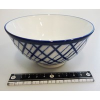 Check line blue tea cup