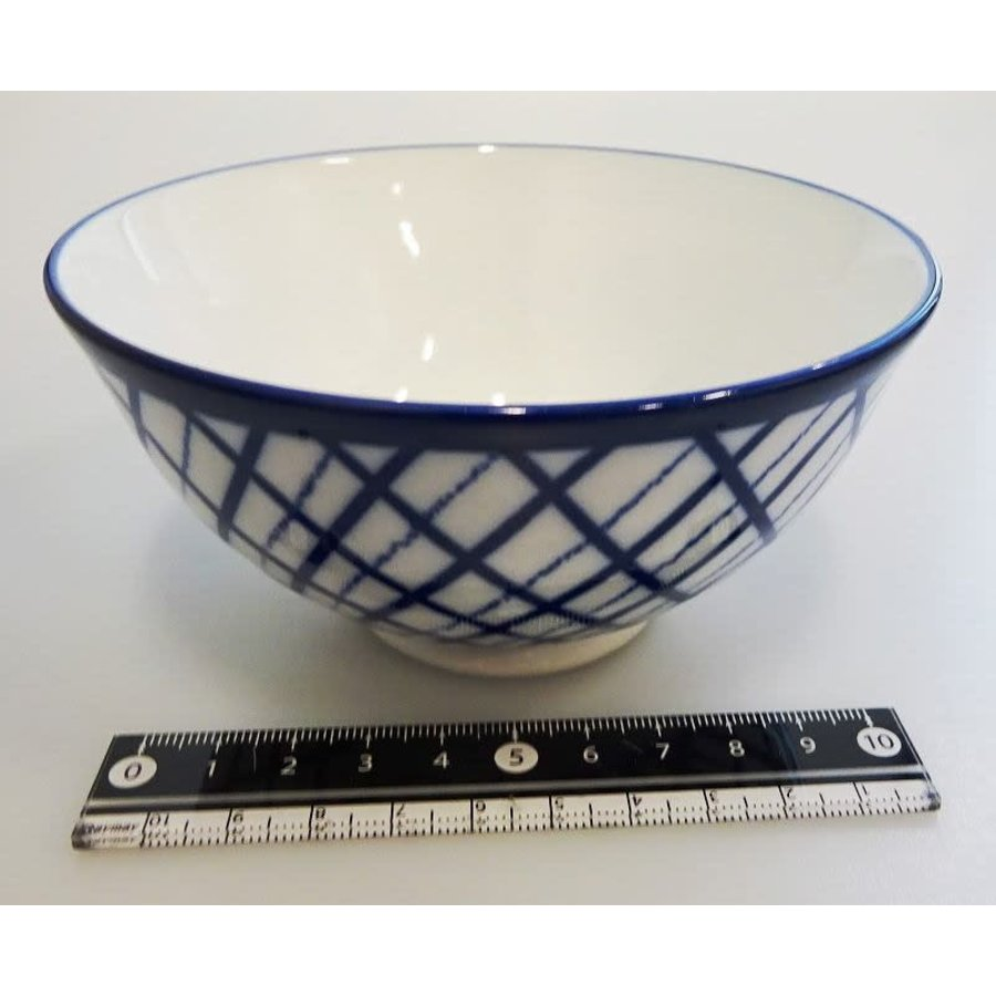 Check line blue tea cup-1
