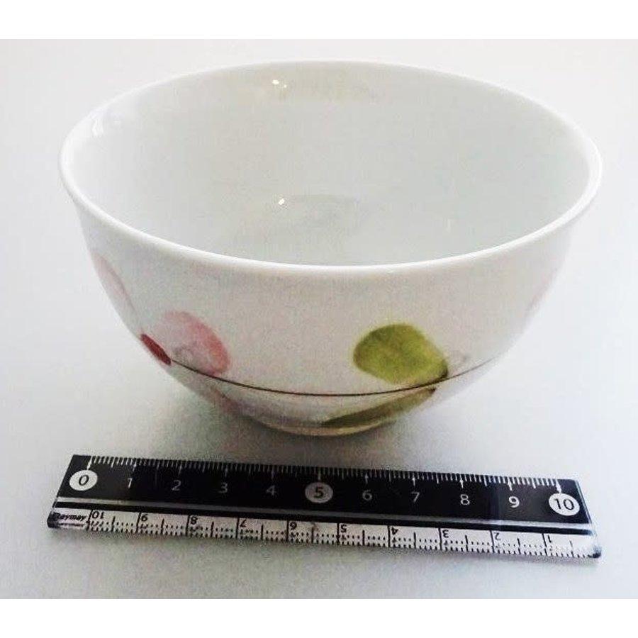 Flower pattern red tea cup-1