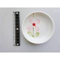 Flower pattern red 3.0 dish