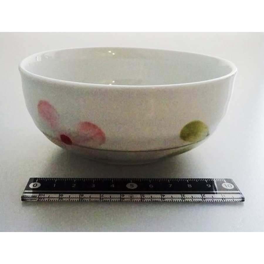 Flower pattern small bowl M-1