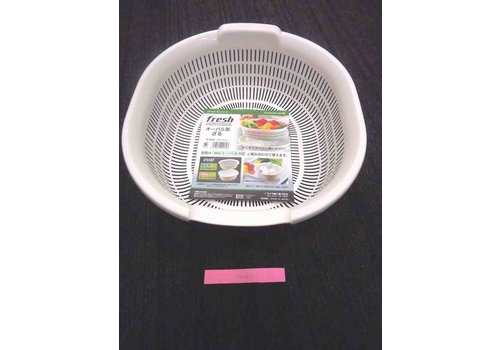 Oval type draining mesh bowl WH