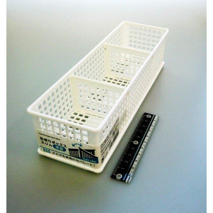 Partition box slim deep type WH-2