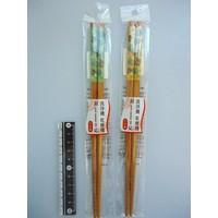 Honu and monstera motif chopsticks 22.5cm machine washable