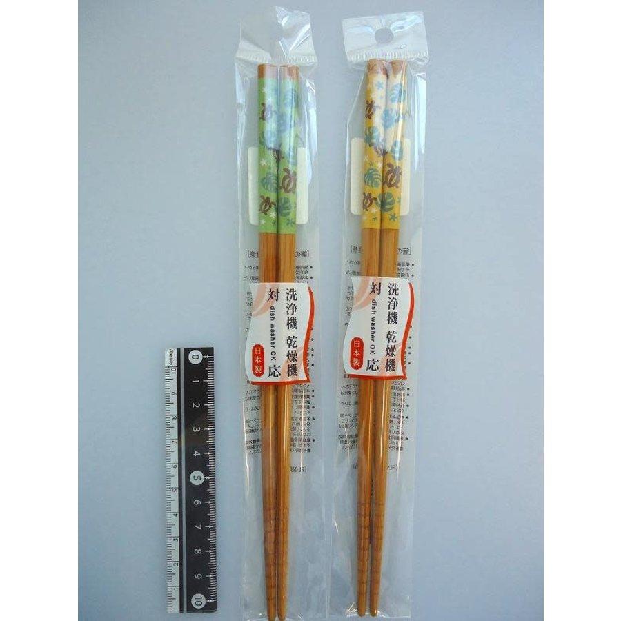 Honu and monstera motif chopsticks 22.5cm machine washable-1