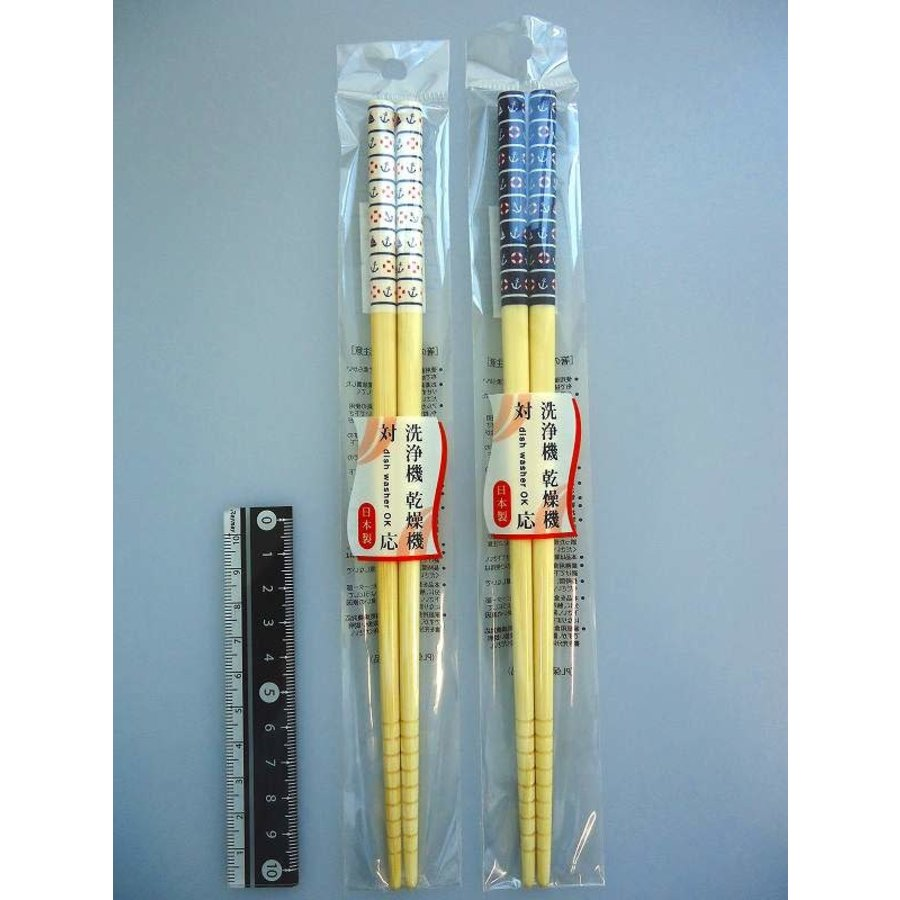 Marine motif chopsticks 22.5cm machine washable-1