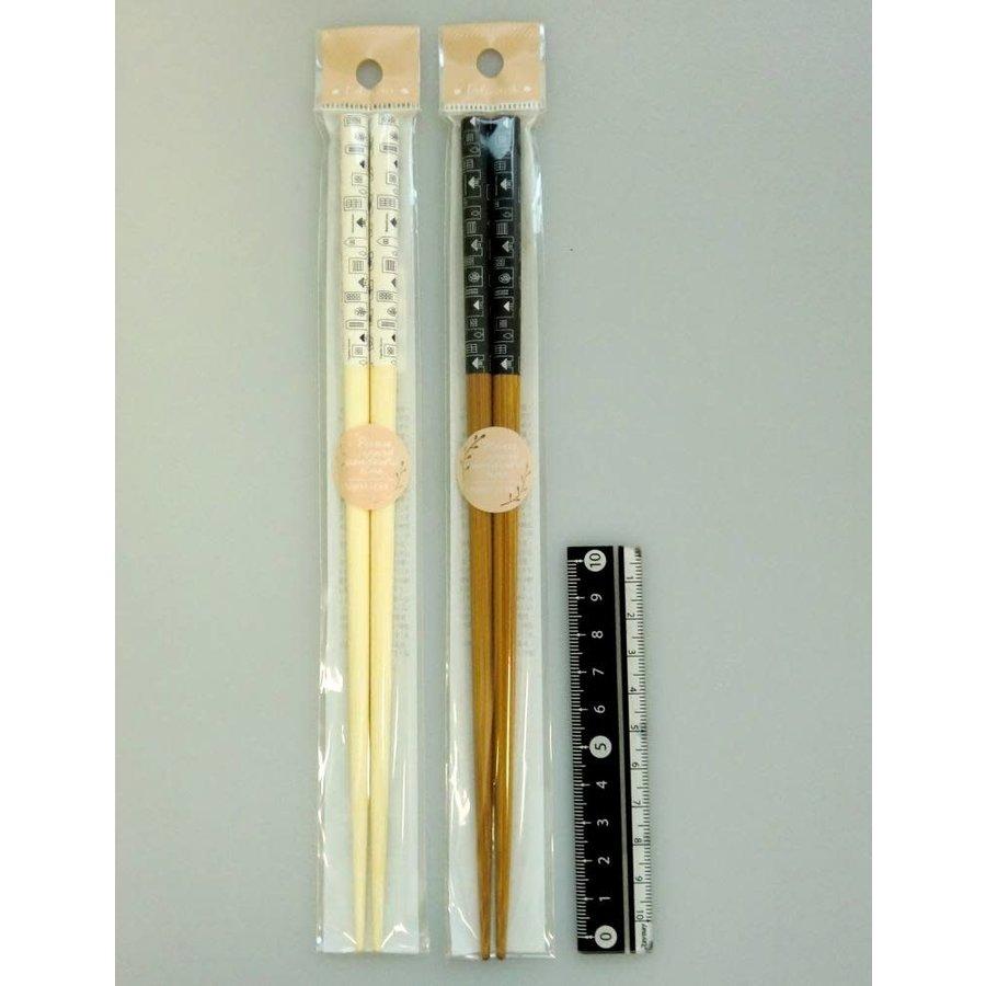 Town motif chopsticks 22.5cm-1