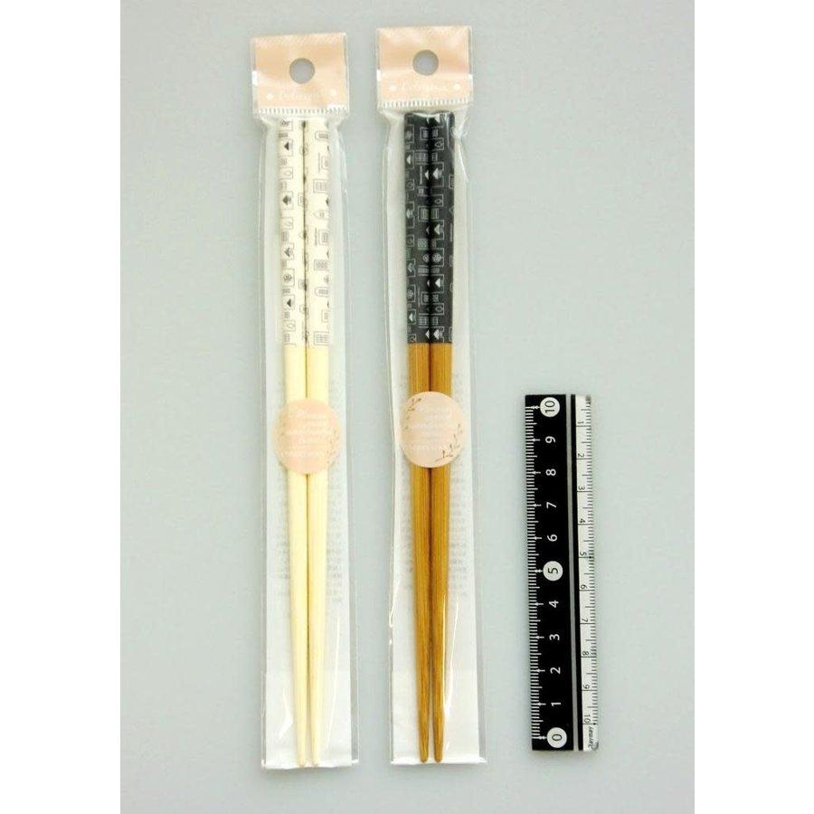Town motif chopsticks 19.5cm-1
