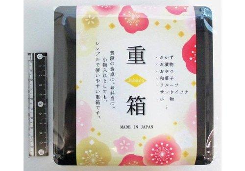 Stapelbare opbergdoos voor eten of kleine spullen, zwart, 13 x 13 cm