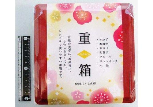 Stapelbare opbergdoos voor eten of kleine spullen, rood, 13 x 13 cm