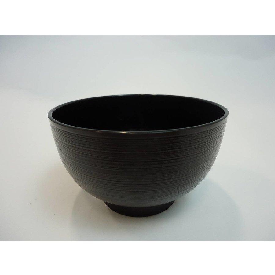 Thin line soup bowl black-1