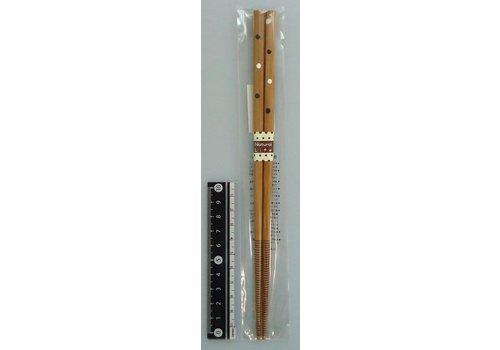 Chopsticks, natural dot, brown