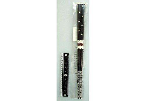 Chopsticks, natural dot, dark brown