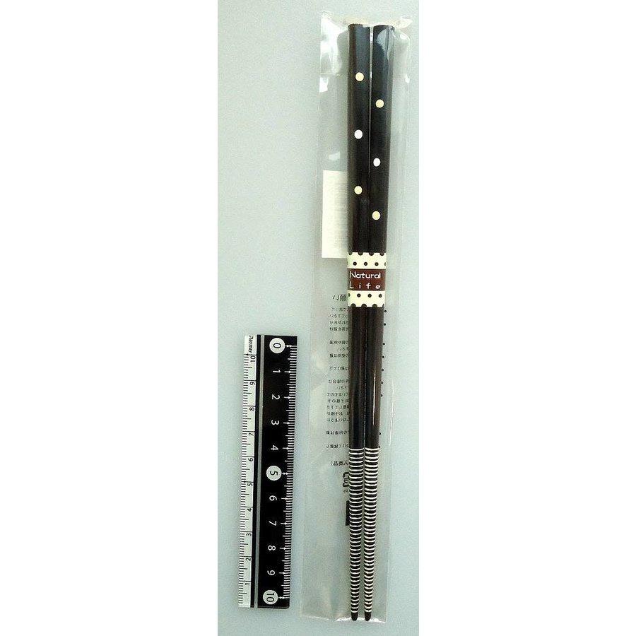 Chopsticks, natural dot, dark brown-1
