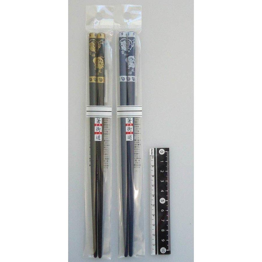Chopsticks 22.5cm Fujisan the wind god, Raijin the thunder god-1
