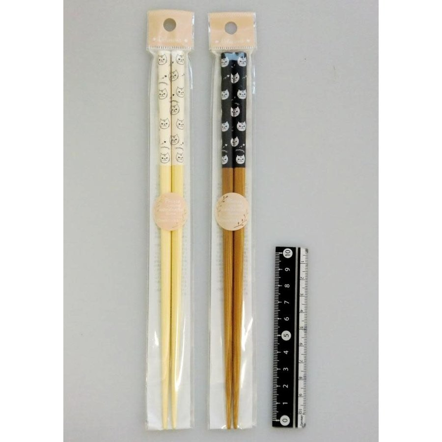 Cat motif chopsticks 22.5cm-1