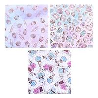 thumb-Design papier in 4 glitter aquarel ontwerpen - 12 vellen-2