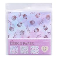 thumb-Design papier in 4 glitter aquarel ontwerpen - 12 vellen-1