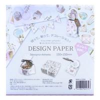 thumb-Design papier in 4 glitter aquarel ontwerpen - 12 vellen-3