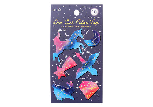 Die-cut film label 48p constellation