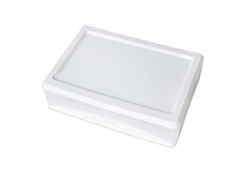 Plastic drawer, horizontal, white