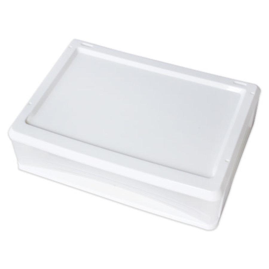 Plastic drawer, horizontal, white-1