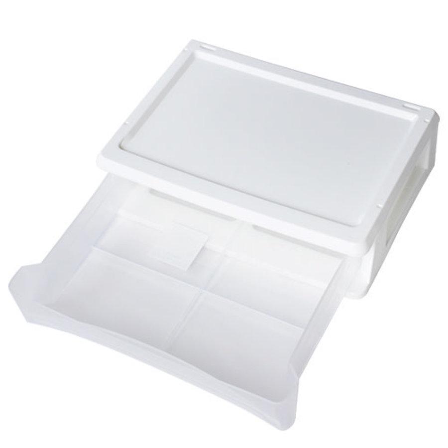 Plastic drawer, horizontal, white-2
