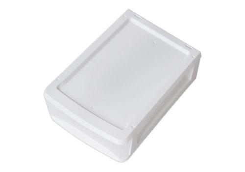 Plastic drawer, vertical, white