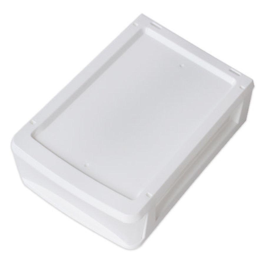 Plastic drawer, vertical, white-1