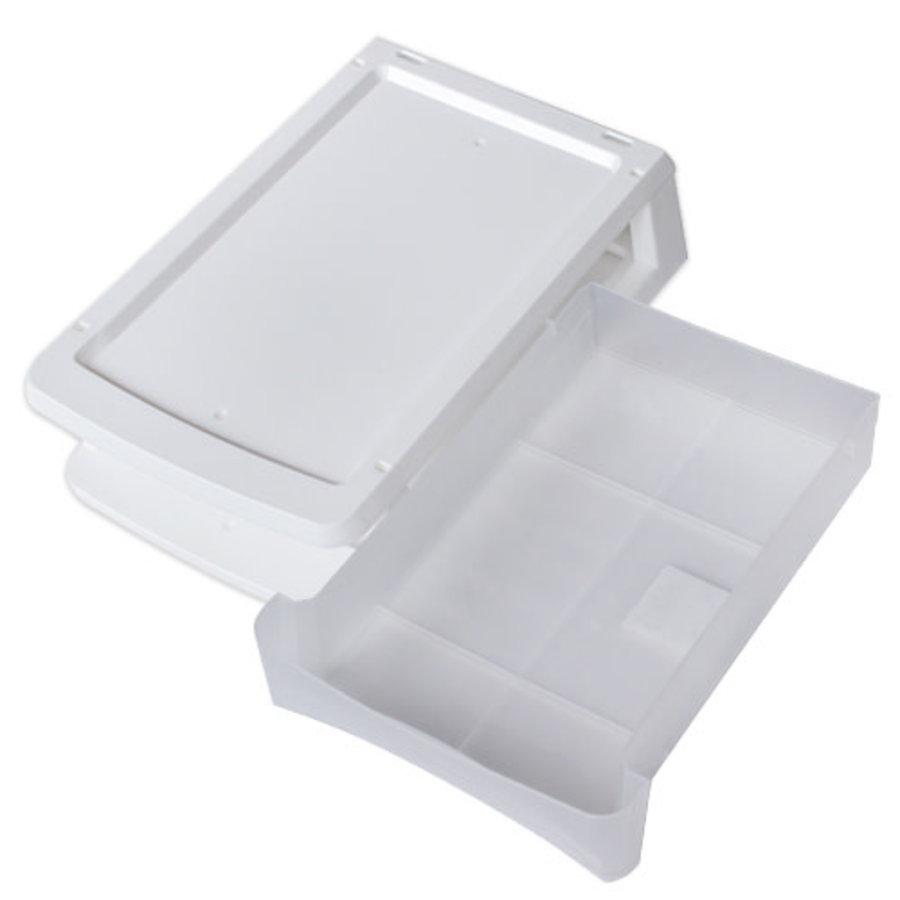 Plastic drawer, vertical, white-2