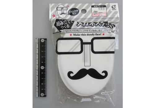 Prefabricated glasses stand gentle man