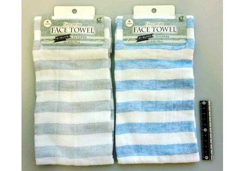 Gauze & pile face towel border