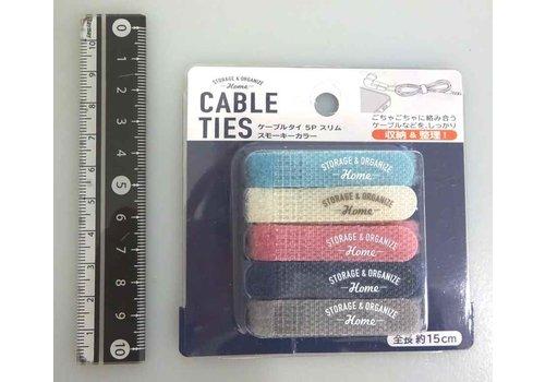 Cable tie 5p slim smoky color