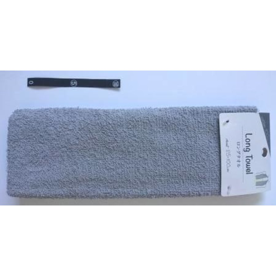 Long towel GY with header : PB-1