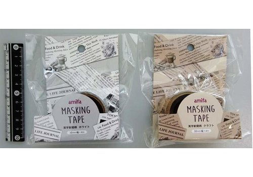 Masking tape 30mm English paper