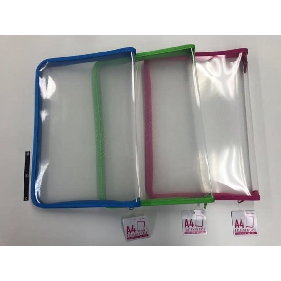 Fastener case A4 blue/pink/green-1