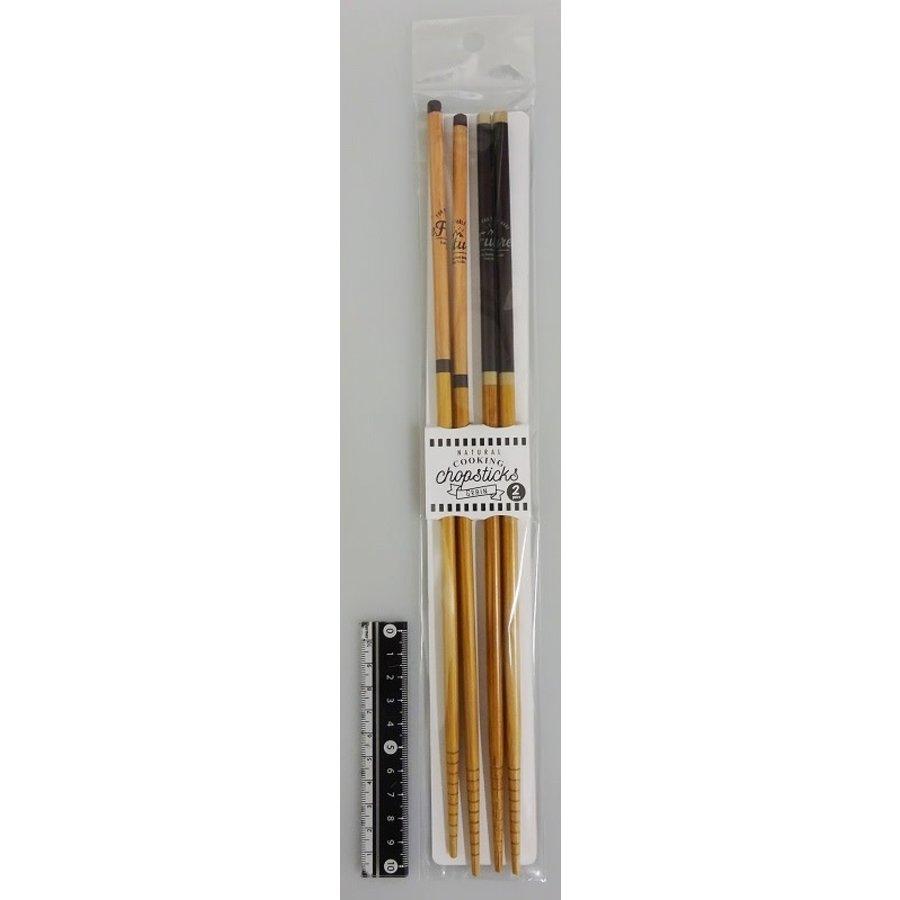 Bamboo cooking chopsticks 2p grain-1