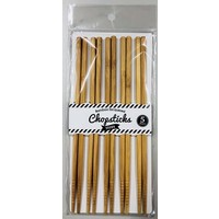 Bamboo coated chopsticks 5p brown