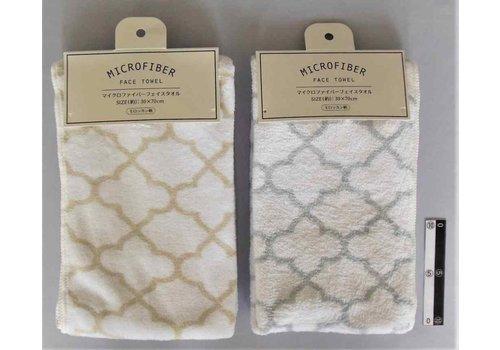 Micro F face towel Moroccan