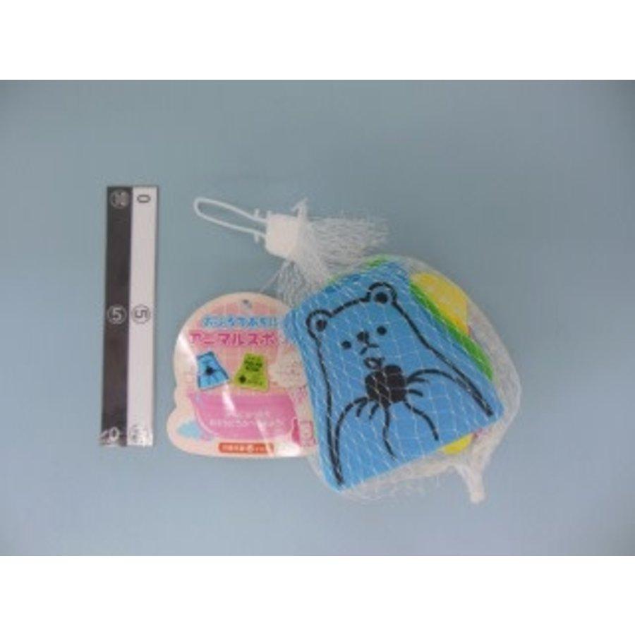Animal sponge for bath play 8p-1