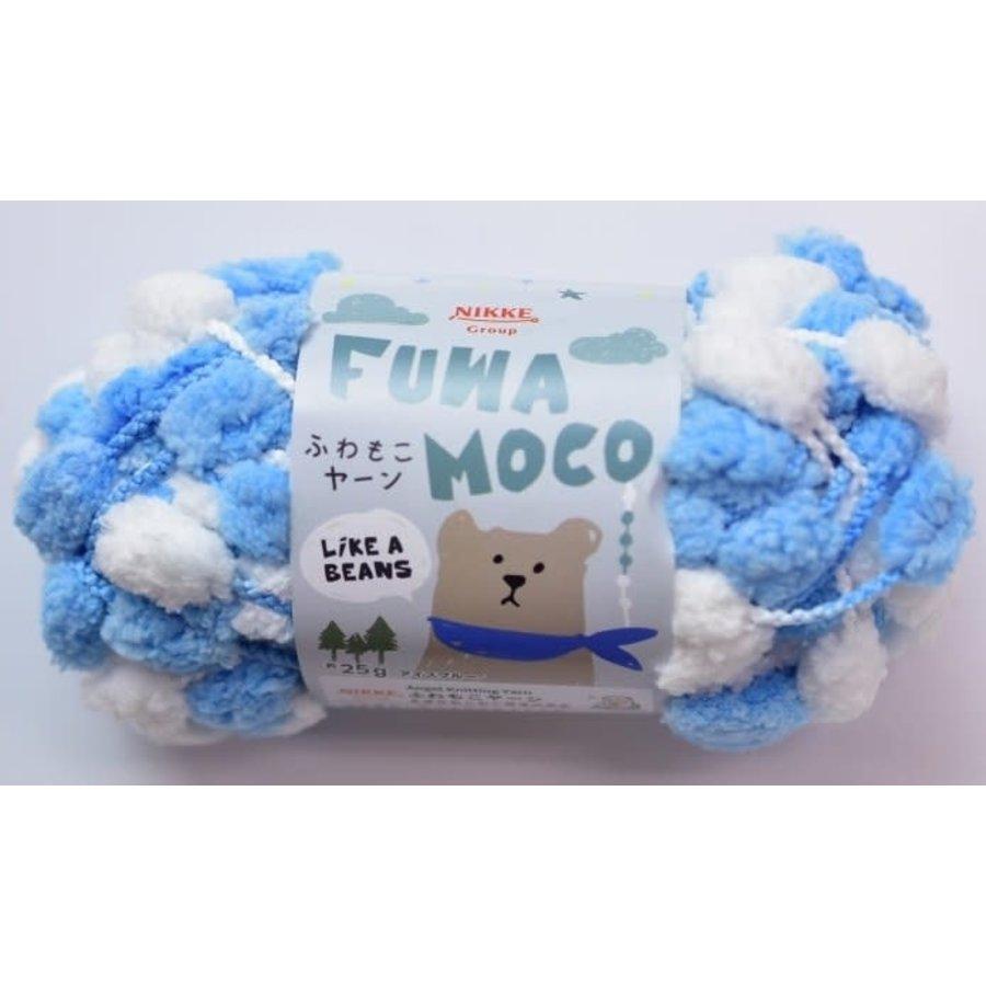 Fluffy yarn ice blue-1