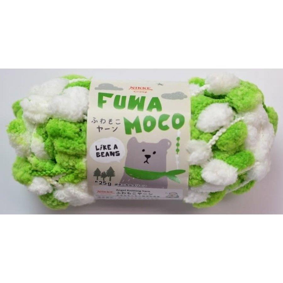 Fluffy yarn botanical green-1